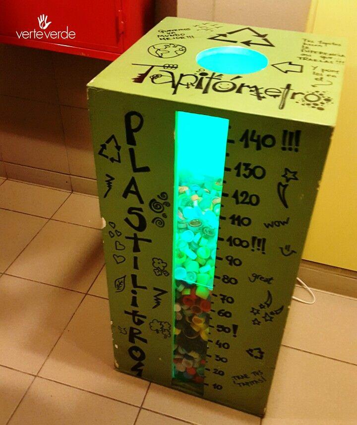 #tapitómetro #tapitas #plastico #reciclado verteverde.com