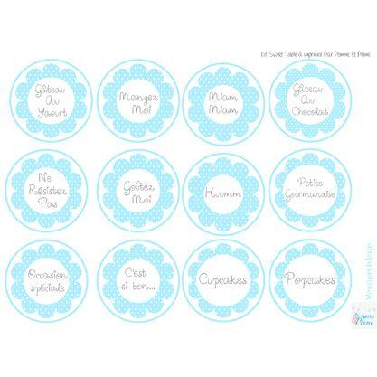 etiquettes candy bar / sweet table bleu | sweet table | pinterest