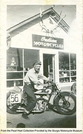 "Clarence ""Pappy"" Hoel, founder of the Sturgis Motorcycle Rally"