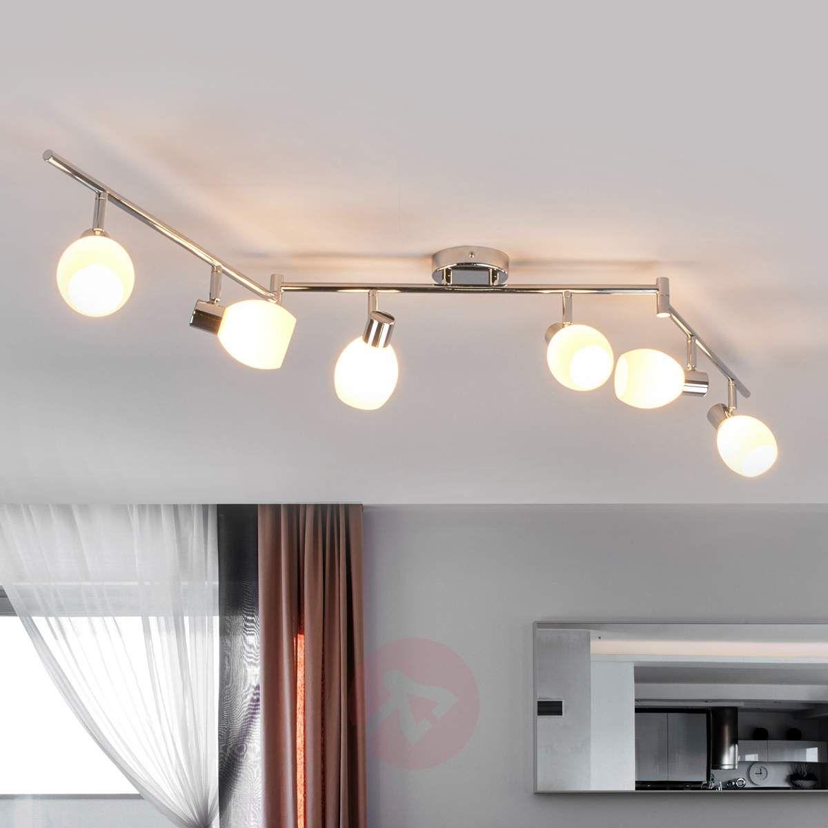 6 Punktowa Szklana Lampa Sufitowa Aidan Led Lampy