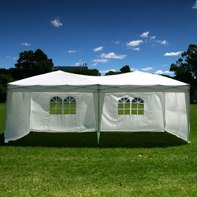 Palm Springs 10 X 20 Ez Pop Up Canopy W 6 Sidewalls Garden Canopy Canopy Outdoor White Canopy