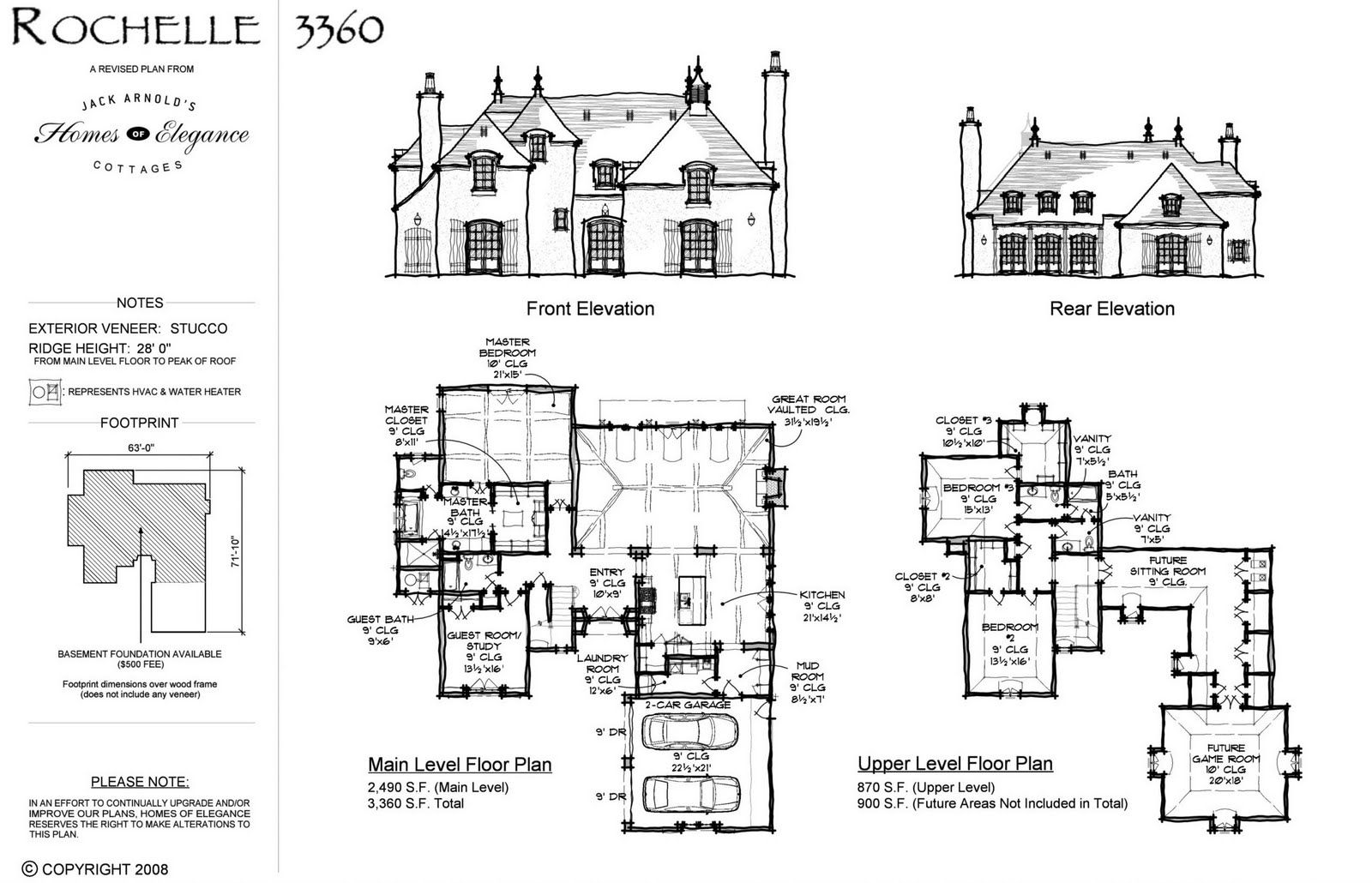 Rochelle Jack Arnold S Homes Of Elegance Arnold House House Plans Home Design Floor Plans