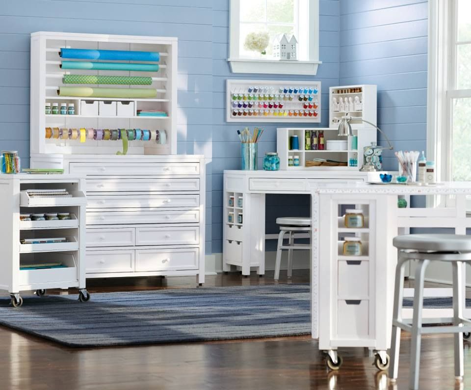 Oooooh It S Just So Clean And White Martha Stewart Craft Furniture Sewing Room Decor Craft Room Design