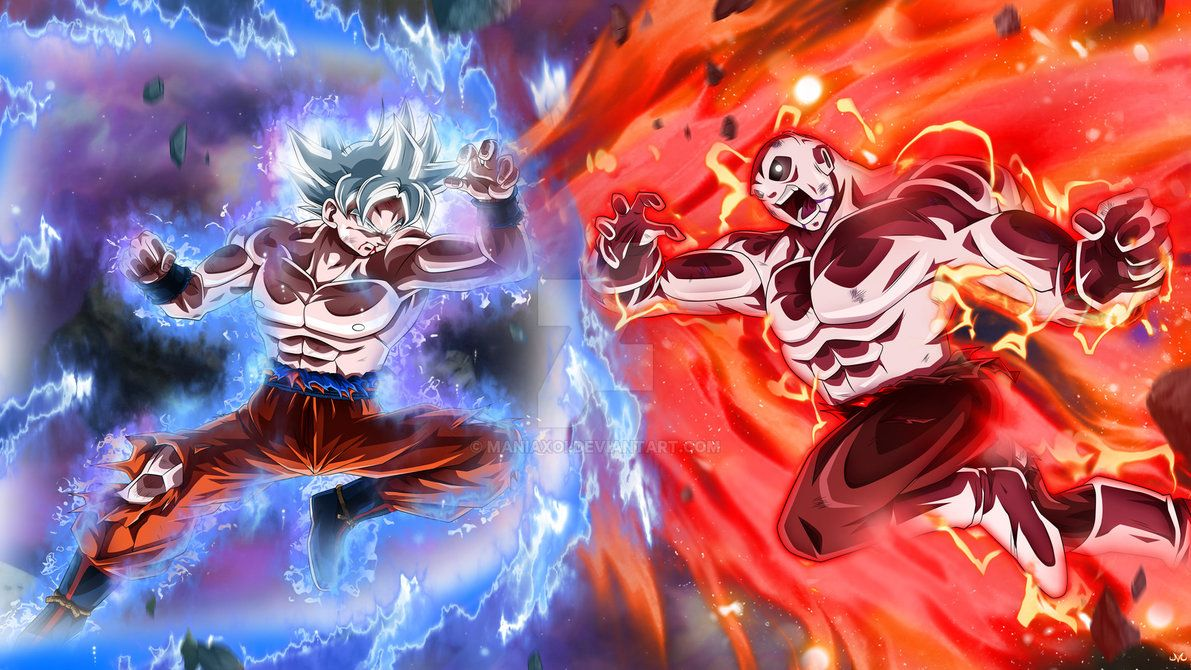 Goku Full Ultra Instinct Vs Jiren By Maniaxoi Anime Dragon Ball