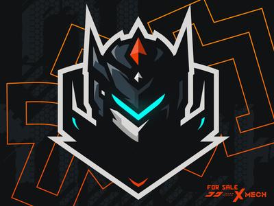 Ninja / Kitsune Mascot Logo Logo keren, Gambar naga