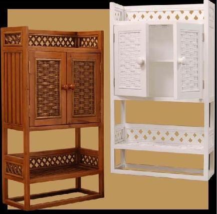Charmant Wicker Bath Shelf,bathroom Shelves:corner Wall Shelf:wicker Towel Shelving :medicine