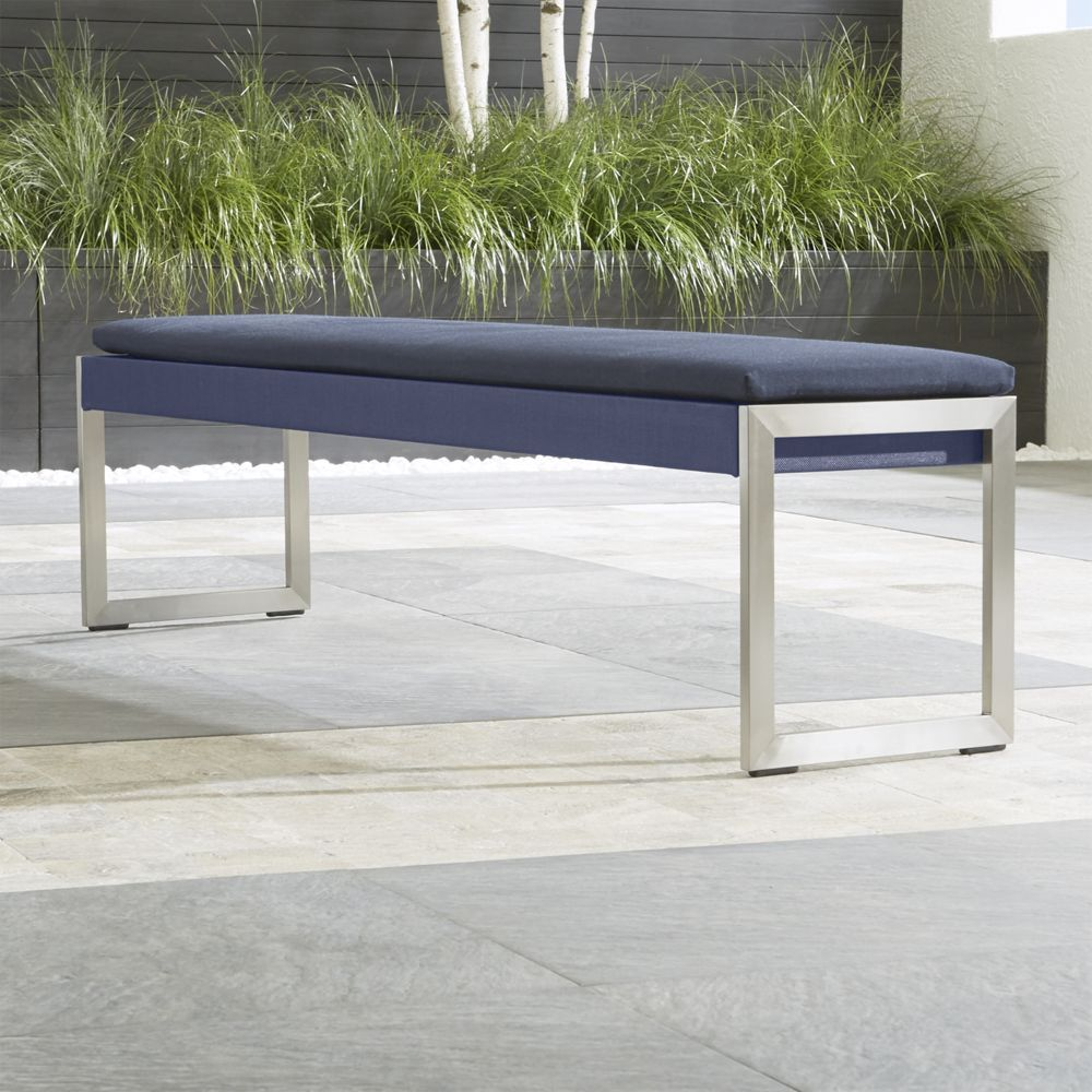 Incroyable Dune Dining Bench With Sunbrella ® Cushion   Crate And Barrel