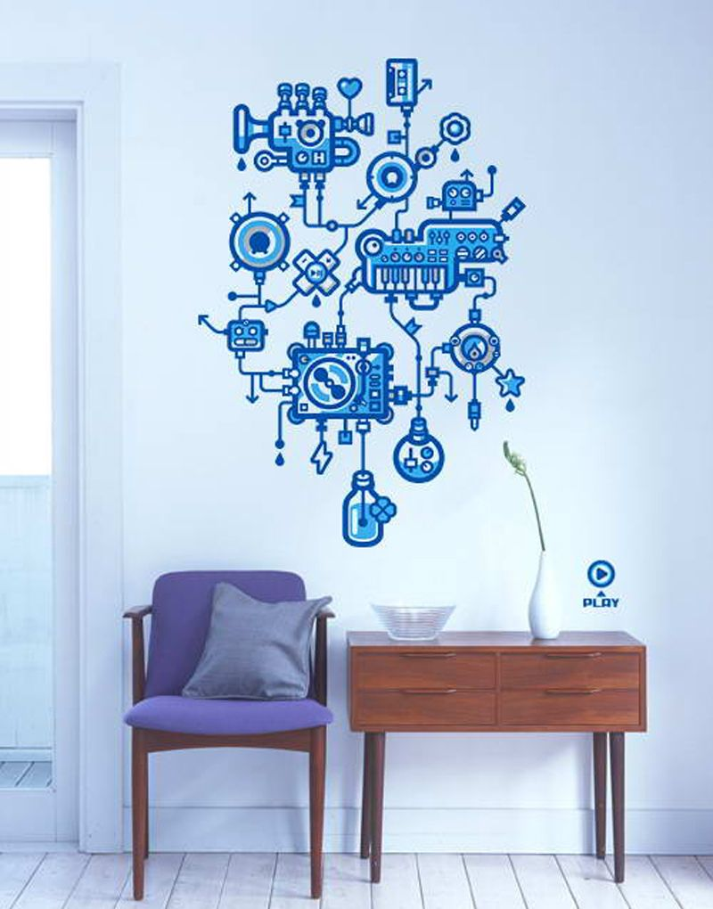 Love this for a boys robot room