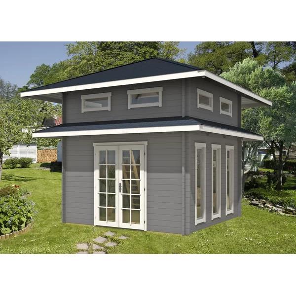 544 cm x 544 cm Gartenhaus Nebraska Modernes kleines