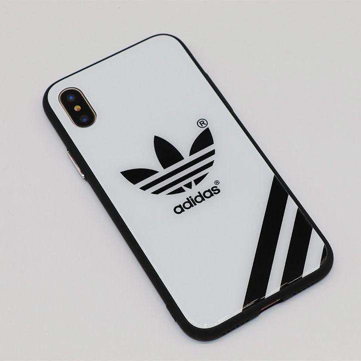 7f18d412aa アディダス iPhonex iPhone8 iPhone7PLUS ケース 背面強化ガラス フルカバー adidas iphone8plusケース  シンプル カッコイイ 男女兼用