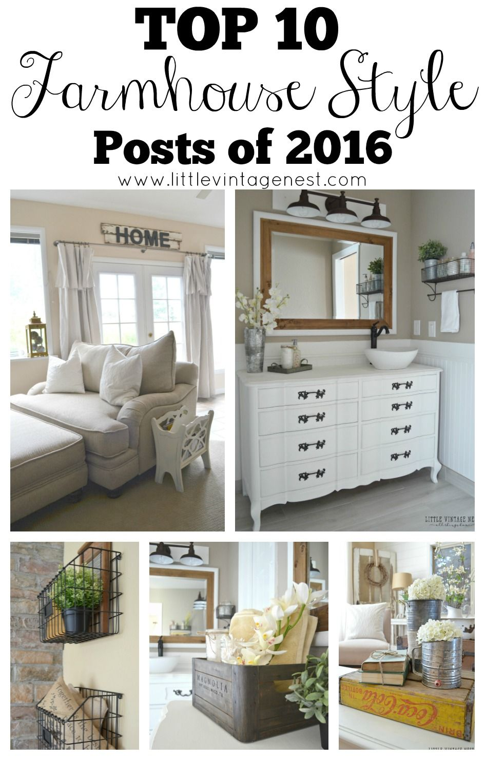 Top 10 Blog Posts of 2016 | Decorating Ideas | Farmhouse