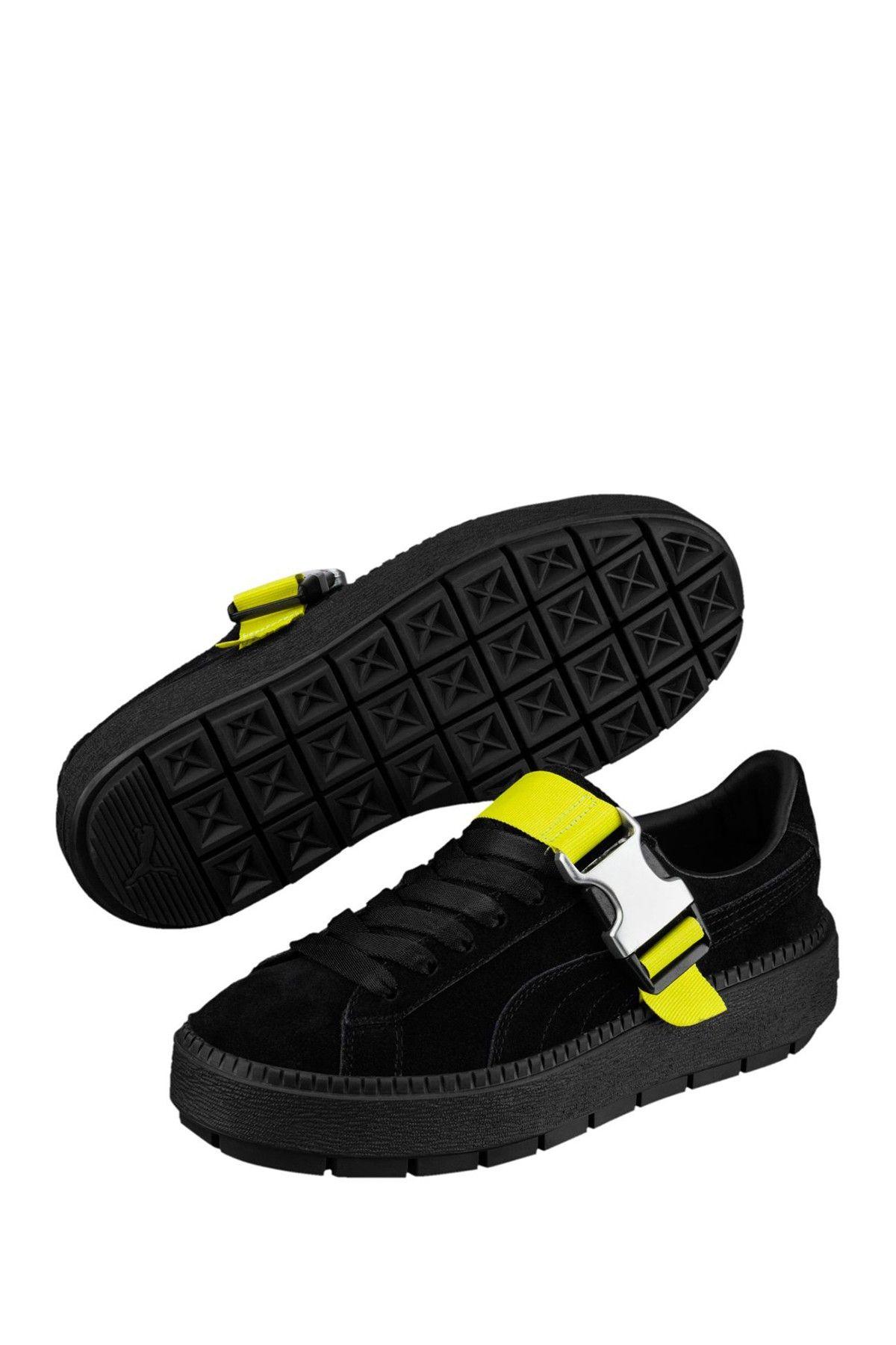 12851d297d1 Platform Trace Suede Buckle Sneaker