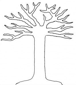 printable outline of tree for fall projects