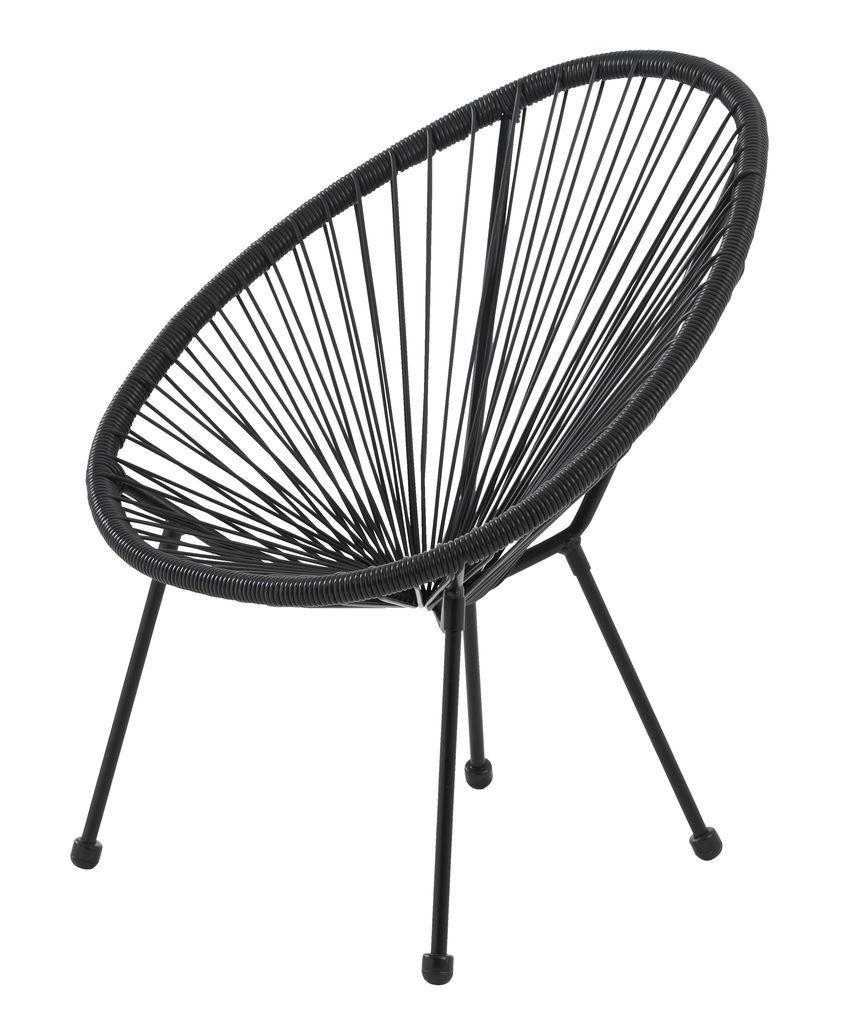 Krzeslo Wypoczynkowe Ubberup Czarne Jysk Lys Balcon