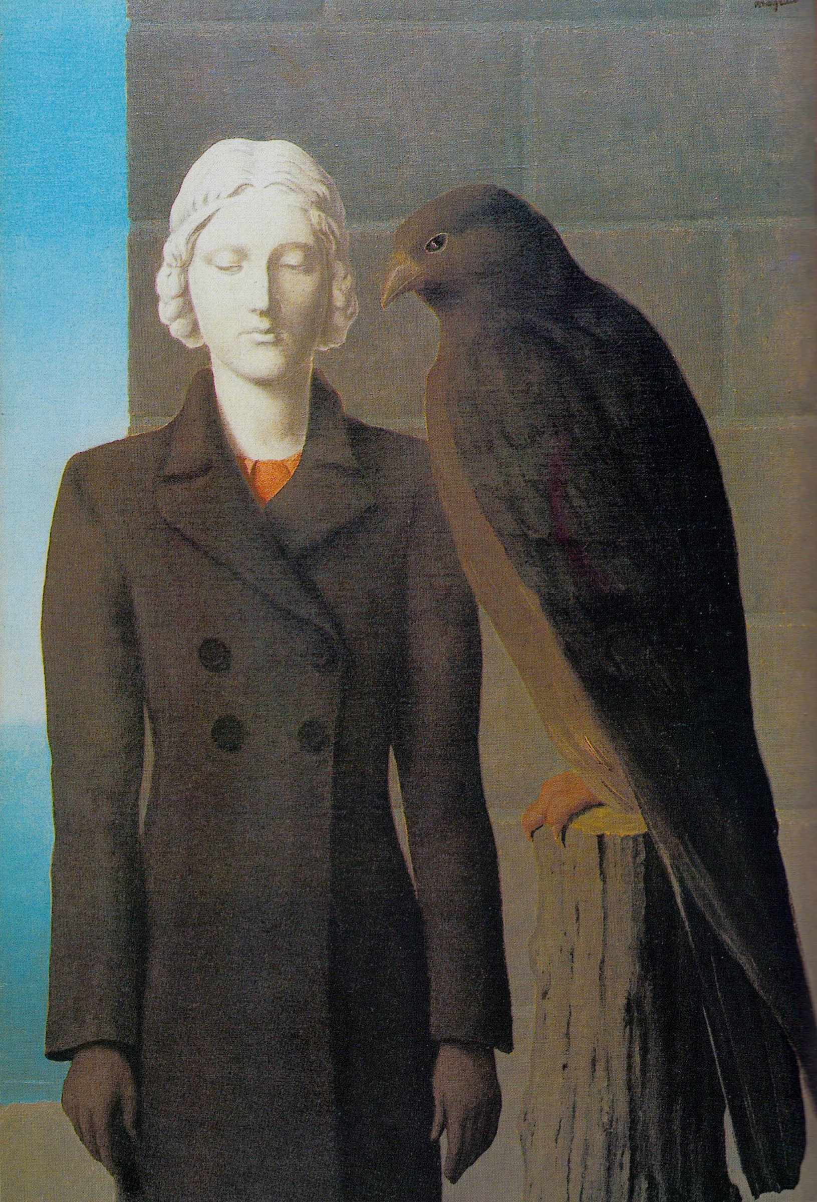 'Les Eaux Pofondes' 1941 MAGRITTE The dark bird of nightmare.  from Hitchcock Style by Jean-Pierre Dufreigne (minksmink)