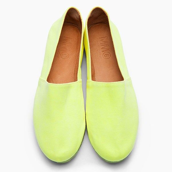 Neon Yellow Slip Ons from Picsity.com
