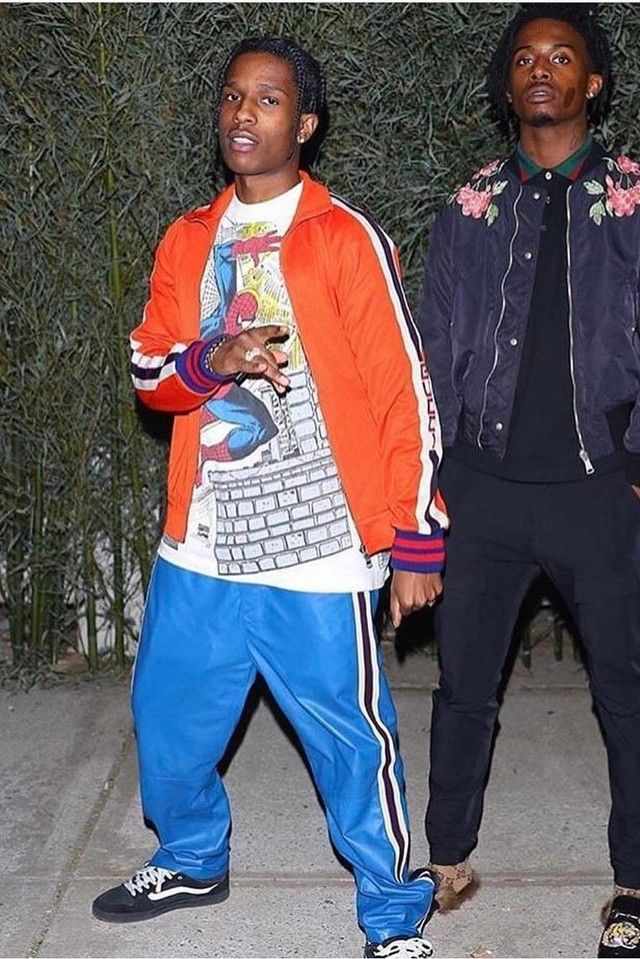 17136c10 ASAP Rocky wearing Gucci Technical jersey jacket, Gucci Leather Jogging  pants, Vans Baxter Sneakers