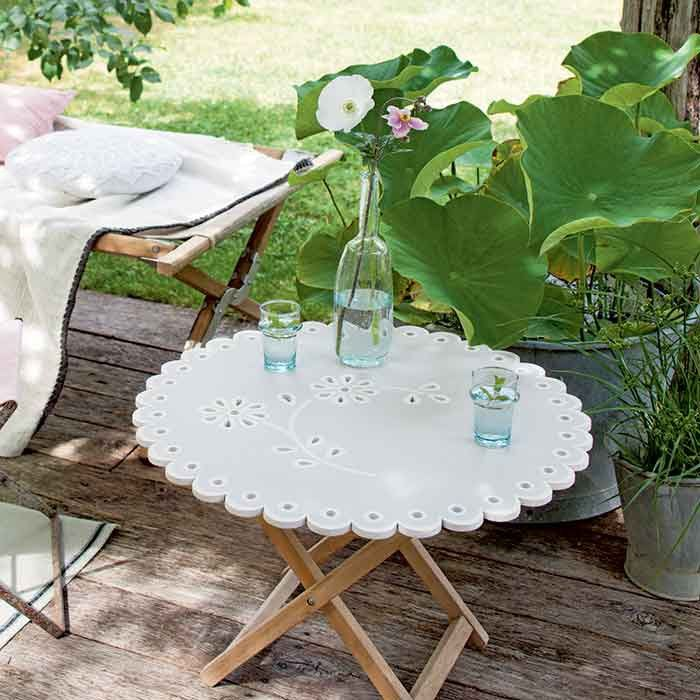 Construire une table de jardin en forme de napperon d co for the home pinterest - Construire une table de jardin en bois ...