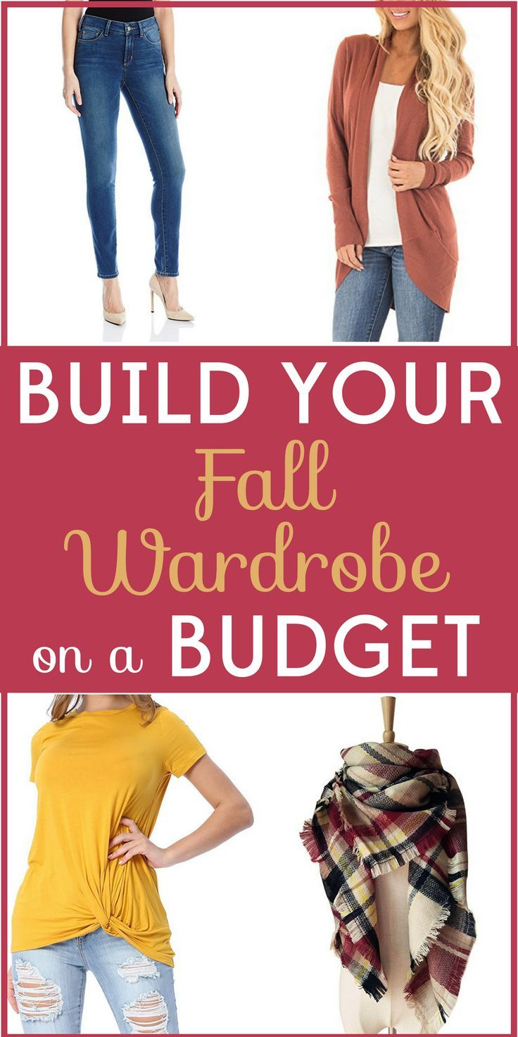 153de5c9197 Time to break out the sweaters and scarves! But don t spend a lot. We ve  got tips for building your fall wardrobe on a budget!