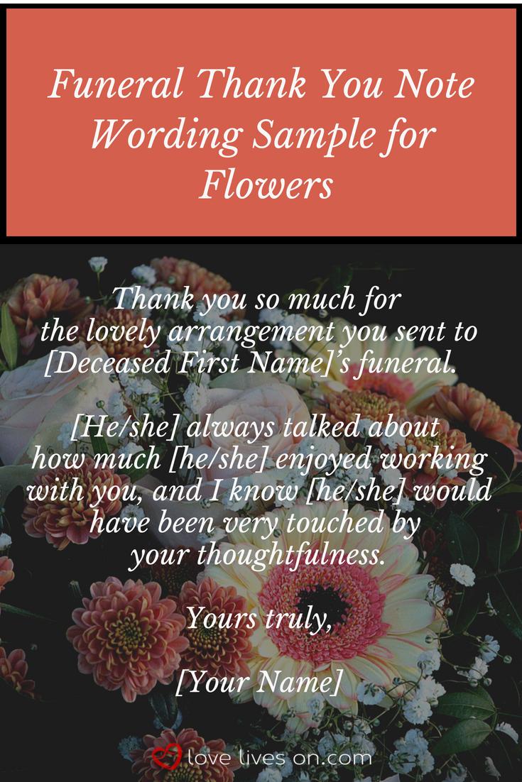 Funeral Thank You Note Funeral Thank You Notes Funeral Thank