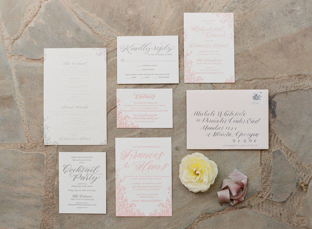 wildflower wedding invitation templates%0A floral pink and gray wedding suite  invitation  detail card  response card   itinerary