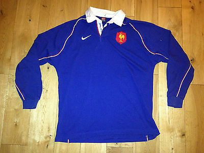 #Vintage #france 2002 blue home nike test rugby #shirt - adult xl longsleeve,  View more on the LINK: http://www.zeppy.io/product/gb/2/191702384284/