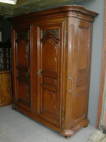 Large Armoire Wardrobe Large Antique Oak Wardrobe Large 19th Century French Oak Armoire French Doors