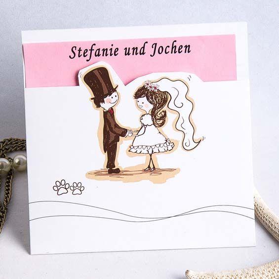 Schön Eine Begegnung In Pink Comic Lustig Einladungenskarten Hochzeit