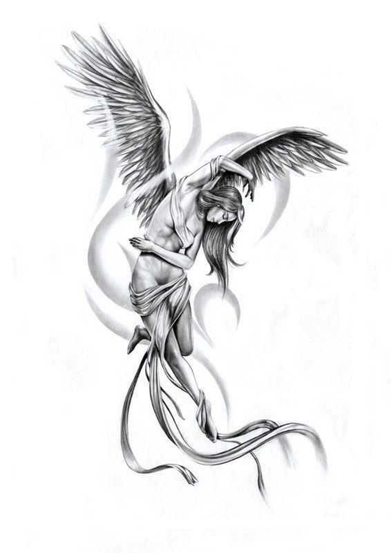 tender angel tattoo sketch pinterest tattoo ideen tattoo vorlagen und t towierungen. Black Bedroom Furniture Sets. Home Design Ideas