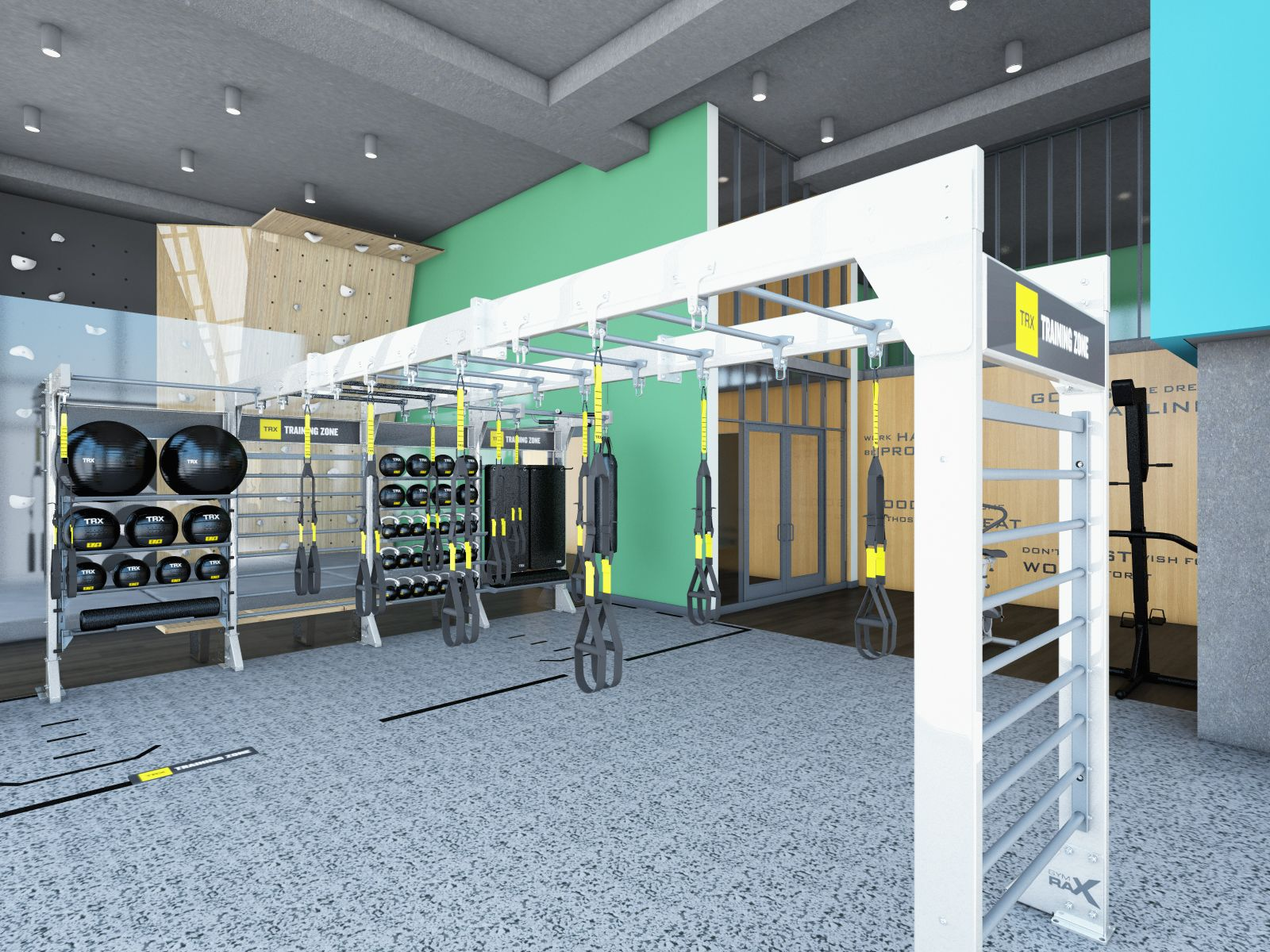 Gym Rax Bridge Suspension Trx Zone