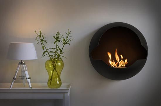 Bio Ethanol Burning Wall Mounted Fireplace 2000 Euro