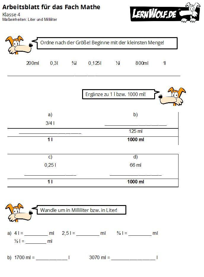 Übungen Mathe Klasse 4 kostenlos zum Download - lernwolf.de | schule ...