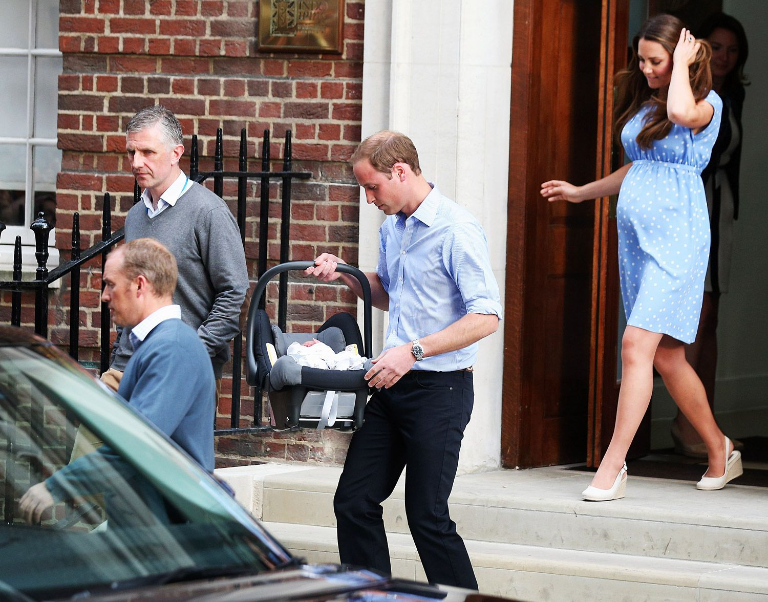 prince william and kate middleton's baby | Prince William and Kate Middleton  left St. Mary's