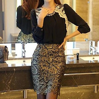 Women's Fashion OL Style Slim Sexy Lace Pencil Skirt – USD $ 13.99