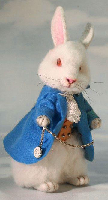 Needle Felted Rabbit - by Stevi T www.thetoyshoppe.com