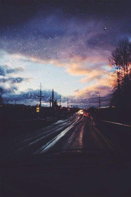 Sky Hipster Vintage Indie Grunge Rain Clouds Travel Road Adventure Pale Wanderlust Rainy