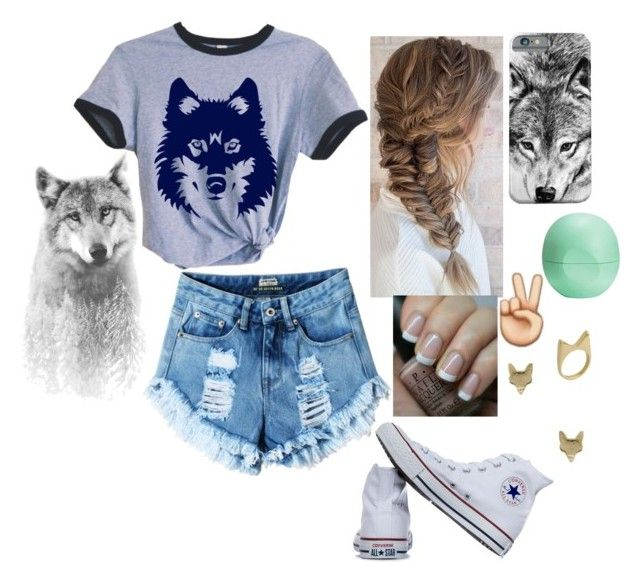 """""""Wolf"""" by kregi800 ❤ liked on Polyvore featuring Eos, OPI, Converse, Kevia, Hiro + Wolf, converse and wolf"""