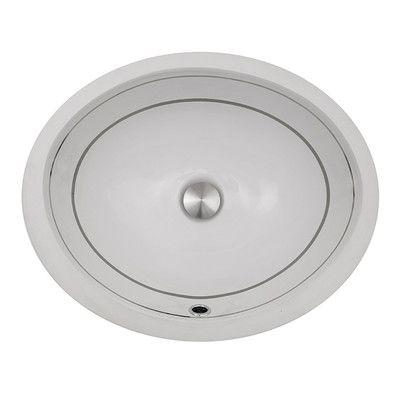 Nantucket Sinks Regatta Izola Oval Undermount Bathroom Sink with Overflow