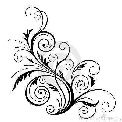 vector floral design element siluetas silhouettes contorno fig rh pinterest ie floral pattern vector download flower pattern vector
