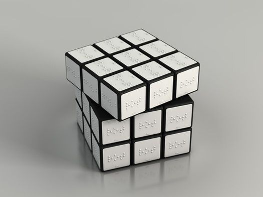 Rubik S Cube With Braille Cube Design Cube Design