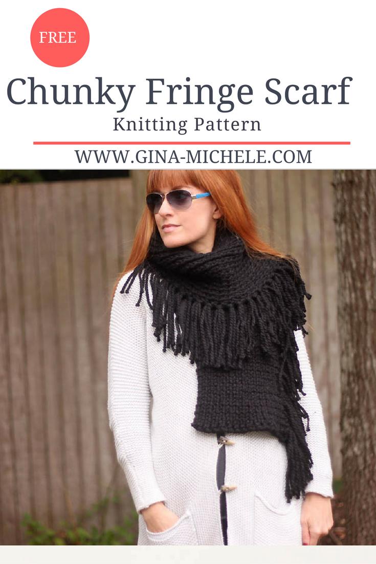 Free knitting pattern for a chunky fringe scarf blogger knitting free knitting pattern for a chunky fringe scarf bankloansurffo Choice Image