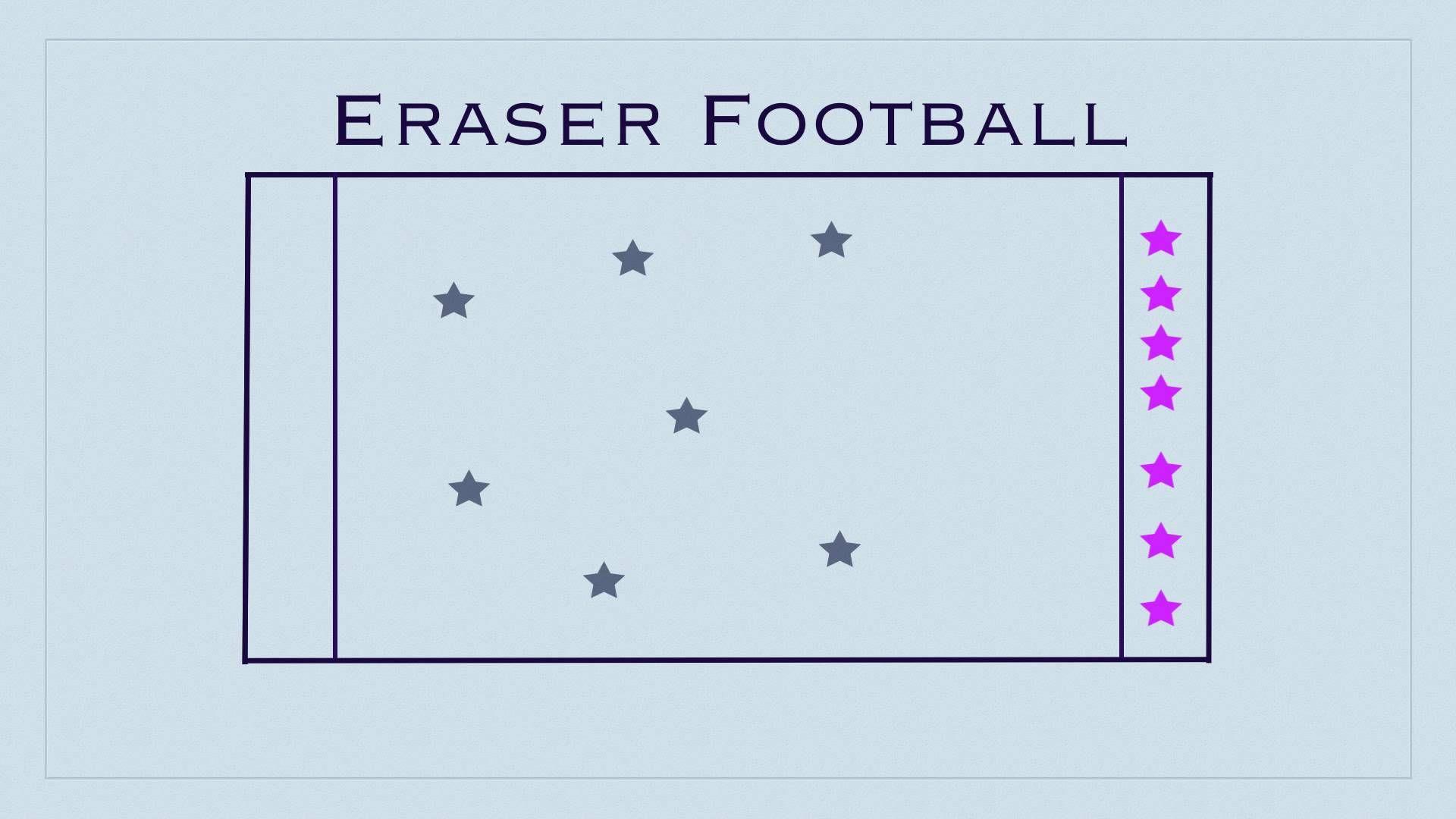 P E Games Eraser Football Offense Defense Concept Modify For
