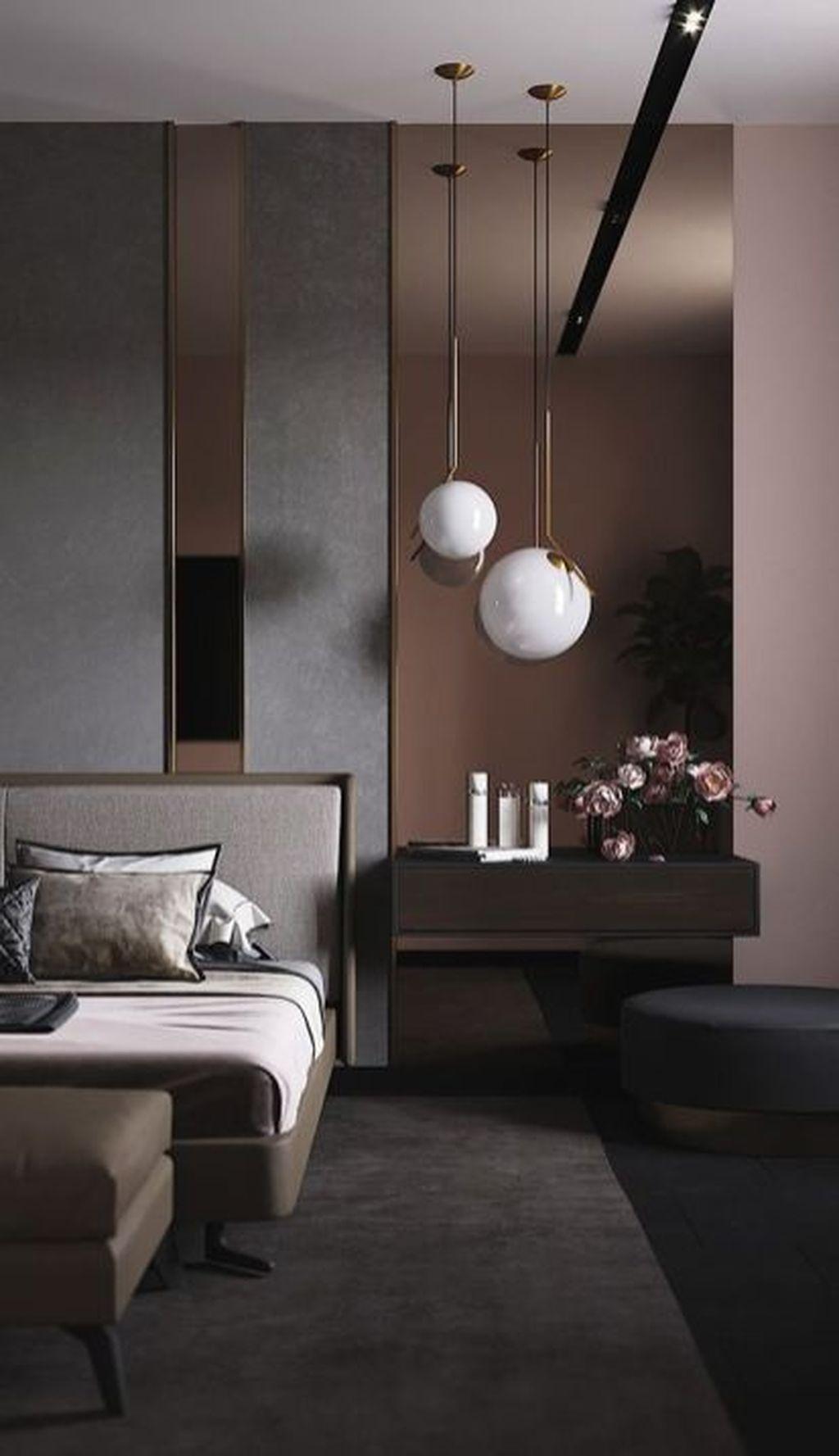 50 Gorgeous Modern Bedroom Decor Ideas - HOMYHOMEE