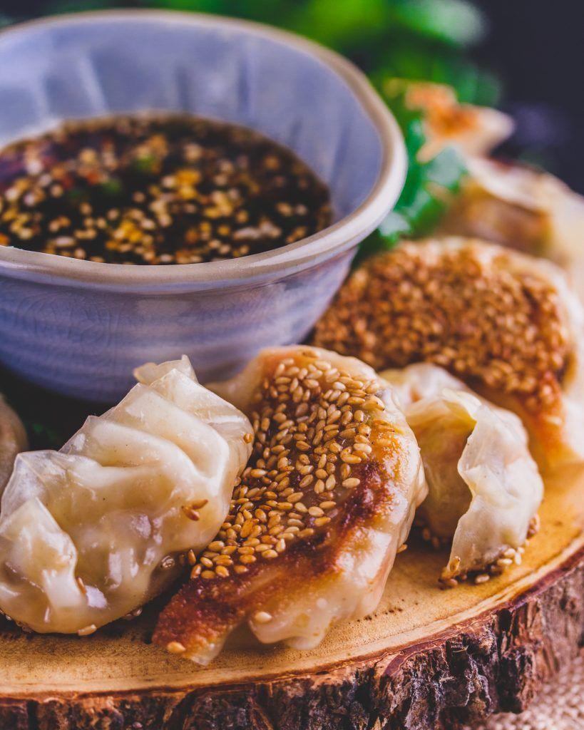 Vegan Gyoza Pan Fried Vegetable Dumplings