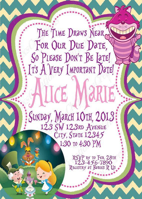 Alice In Wonderland Baby Shower Invitation by ChrispixsCreations - baby shower templates word