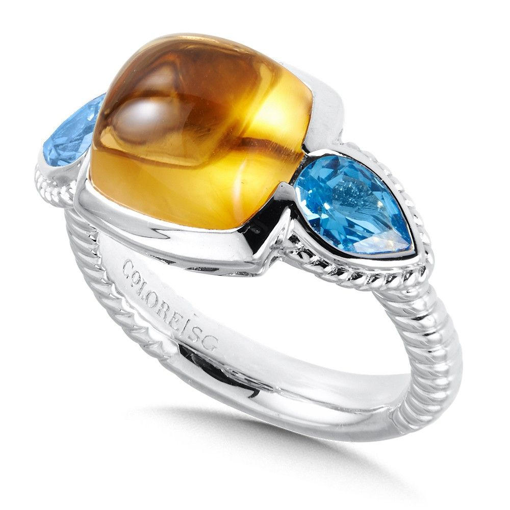 16++ Citrine and blue topaz jewelry viral