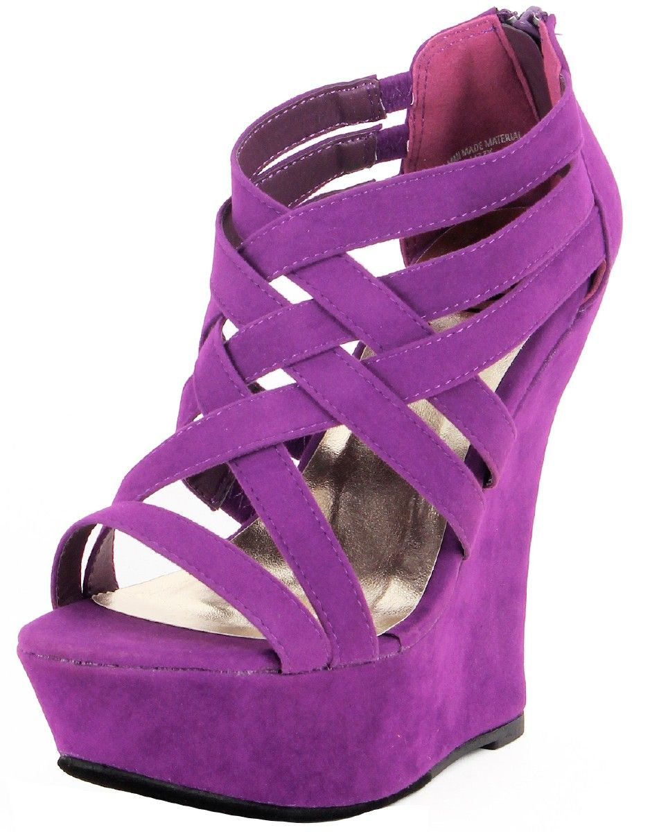Purple Wedges | ... > Shoes > Women's Shoes > Heels > Purple Faux ...