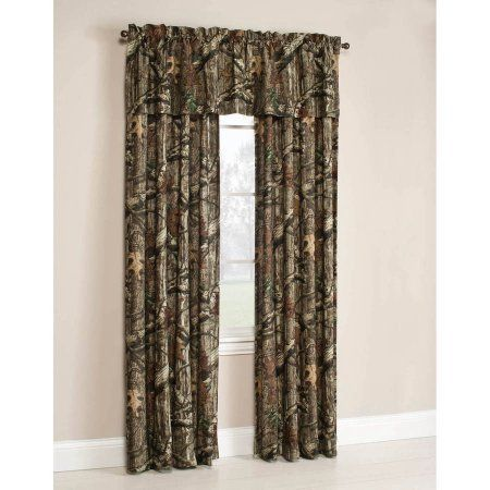 Mossy Oak Break Up Infinity Camouflage Print Window Curtain Panels Green Camo Curtains Camo Rooms Camo Furniture