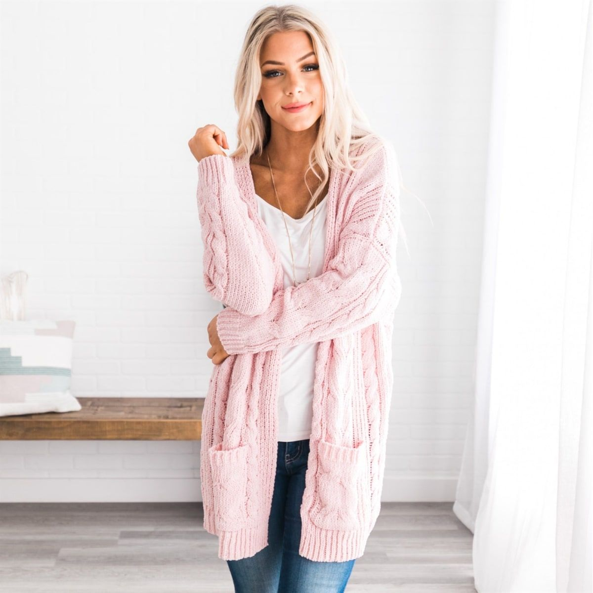 Rylie Cable Knit Cardigan (With images) | Cable knit ...