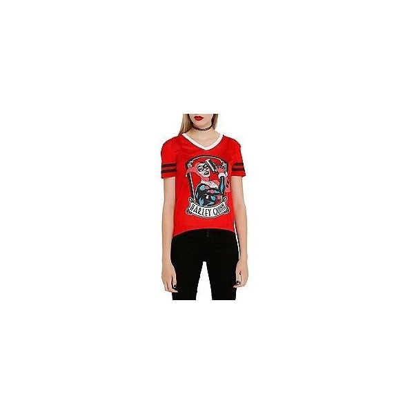 4HARLEY QUINN HI LO TEE | Hot Topic via Polyvore